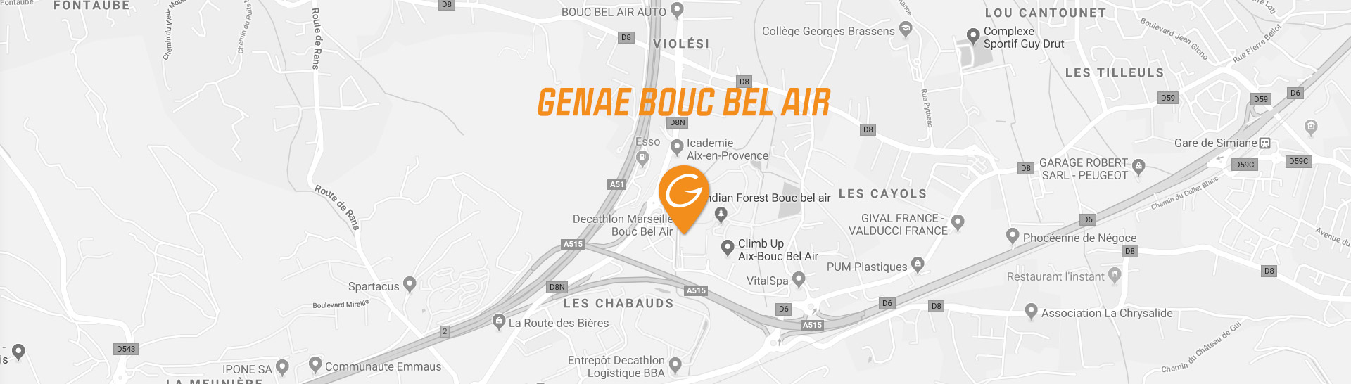 map genae fitness club bouc bel air