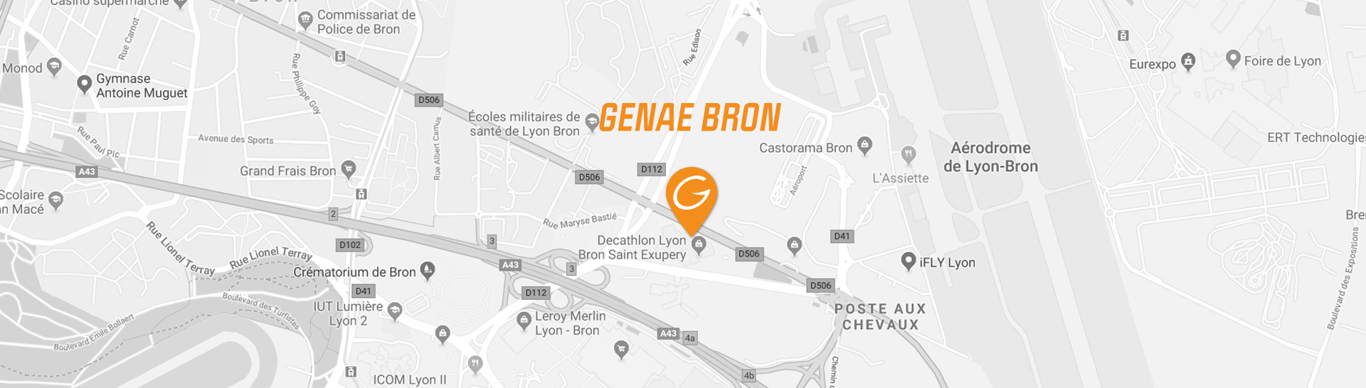 map genae fitness club Bron