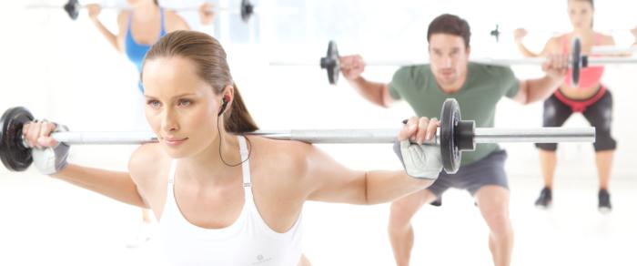 Travail de musculation en groupe